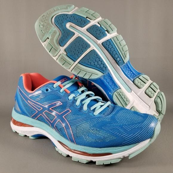 newest 36b76 7b87a ASICS Gel-Nimbus 19 Womens Athletic Shoes 9 D Blue